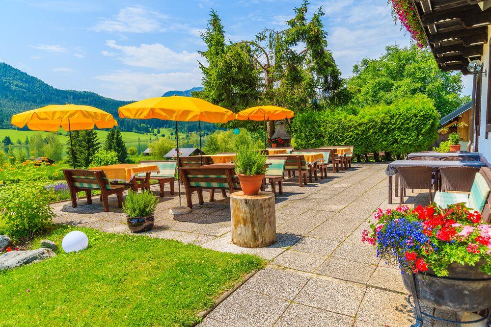 landscape garden of a restaurant